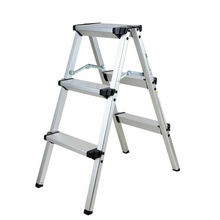 Honhill Foldable Aluminum Ladder A-type Multi-functional Folding Step Platform 3 Steps
