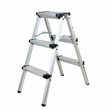 new 15 5ft step platform multi purpose all rustproof aluminum alloy folding scaffold step ladder for commercial use tool Honhill Foldable Aluminum Ladder A-type Multi-functional Folding Step Platform 3 Steps