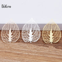 BoYuTe (10 Pieces/Lot) Metal Brass Corrosion Sheet 56*41MM Hollow out Leaf Pendant Diy Hand Made Jewelry Materials