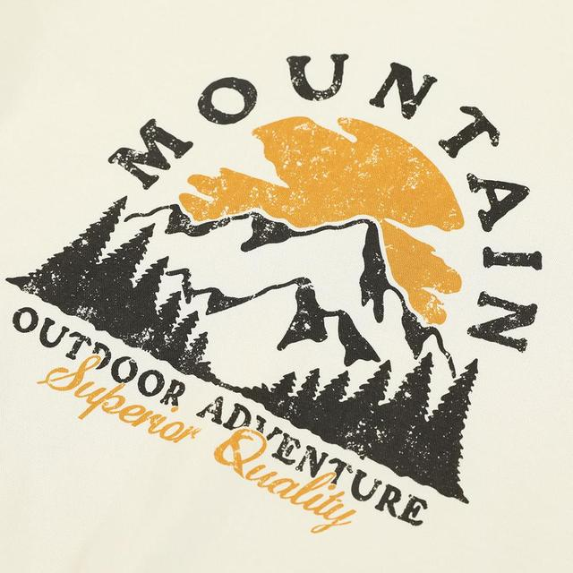 Thick Sweatshirts with Mountain Print