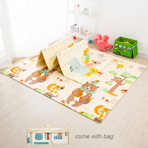 Foldable Baby Play Mat Thick Home Room Decor Crawling Rug Toys for Children Carpet Soft Floor Puzzle Road Mat Activity Gym(China)