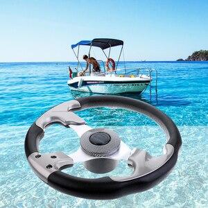 Image 5 - マリン 12.4 315 ミリメートルステアリングホイール & 3/4 テーパーシャフト無指向性 3 スポークステアリングホイール容器ヨットボート accessorie