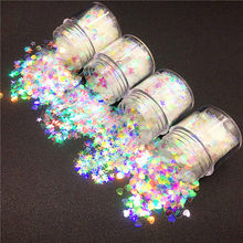10ml/bx Glitter Mermaid Nail Flakes Sequins Mixed Star Heart Round Shape Paillette Nail Art Polish Holographic Decor Tips(China)
