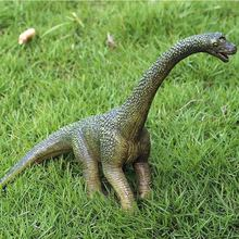 цены Simulation Jurassic Dinosaur PVC Solid Model Jurassic World Brachiosaurus Wild Animal Garage Kit Model Home Decor