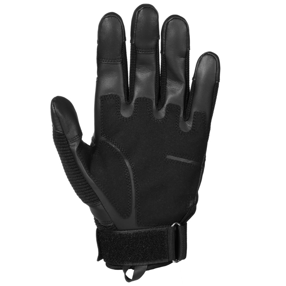 Image 5 - Touch Screen Leather Motorcycle Gloves Motocross Tactical Gear Moto Motorbike Biker Racing Hard Knuckle Full Finger Glove Mens-in Gloves from Automobiles & Motorcycles