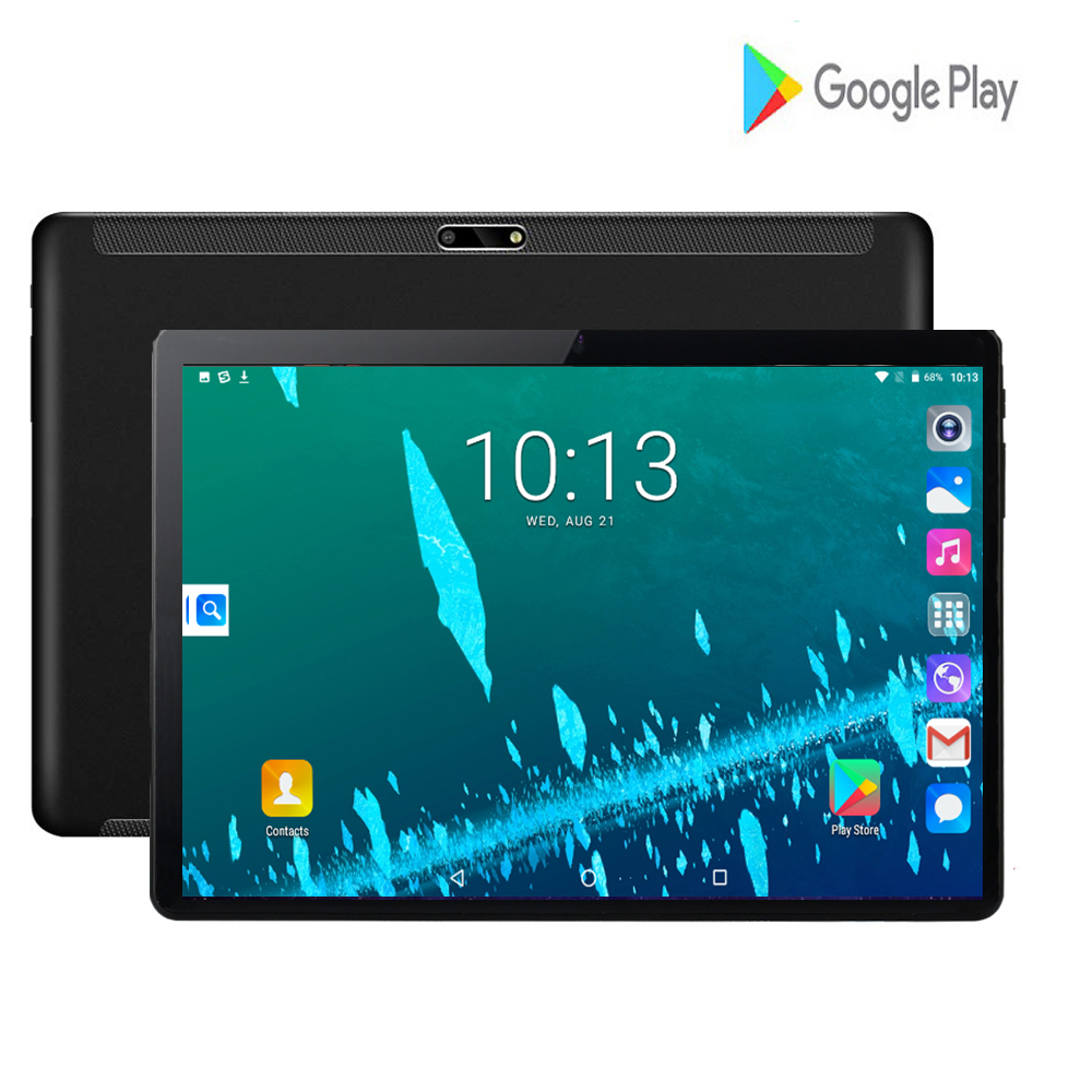 2020 Hot 10 Inch 3G Wifi Tablets PC Quad Core 2GB RAM 32GB ROM IPS 2.5D Tempered Glass 3000mAh 10.1 Tablets Android 7.0 +Gifts