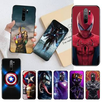 HOTCASHOP marvel heroes Phone Case for Redmi 9A 8A 7 6 6A Note 9 8 8T Pro Max Redmi 9 K20 K30 Pro image