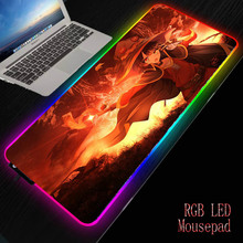 MRGBEST Megumin Anime RGB Gaming Large Mouse Pad Led Computer Waterproof Mousepad with Backlight Carpet for Keyboard Desk Mat