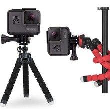 Гибкая Спортивная Экшн-камера ручной захват аксессуары для Gopro Go Pro Hero 7 6 5 4 1 полюс ручной селфи-Палка для Yi 4K SJ4000