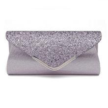 Женский Блестящий клатч с блестящим блеском, Женская Свадебная вечерняя цепочка, кошелек вечерняя сумка