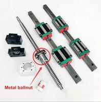 2 sztuk HGH20 prowadnica liniowa + 4 sztuk HGH20CA/HGW20CA prowadnica liniowa + 1 zestaw SFU1605 ballscrew liniowy moduł ruchu w Prowadnice liniowe od Majsterkowanie na