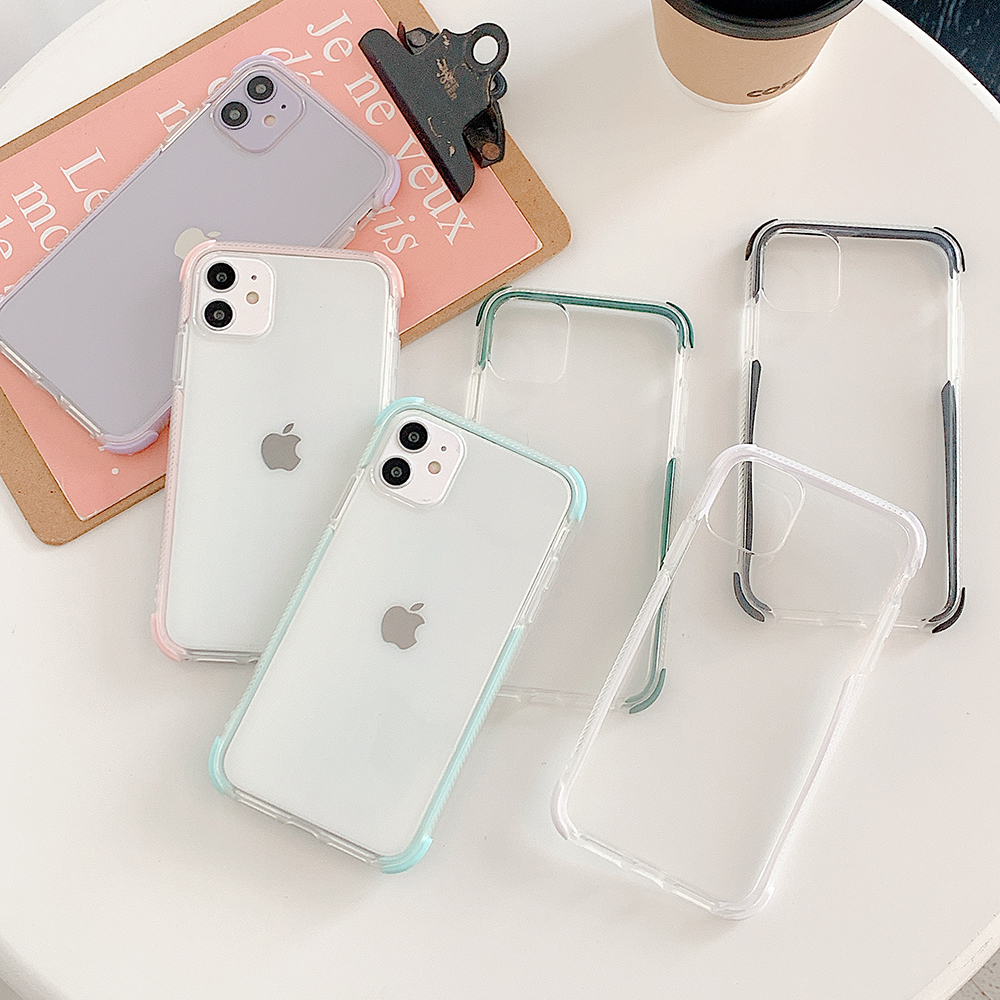 LOVECOM Solid Color Shockproof Case For iPhone 12 11 Pro Max 12 Mini XR XS Max X 7 8 6S Plus Soft TPU Full Body Clear Back Cover Phone Case & Covers  - AliExpress