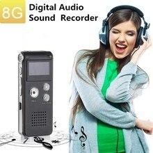 цена на 8GB/16GB Voice Recorder LCD Rechargeable Digital Audio Sound Recording MP3 Player