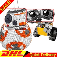 LELE 35020 Star Wars Ultimate Collector's BB8 Robot LP 16003 WALL E Robot Ideas Model Building Blocks Bricks lepinings Toys