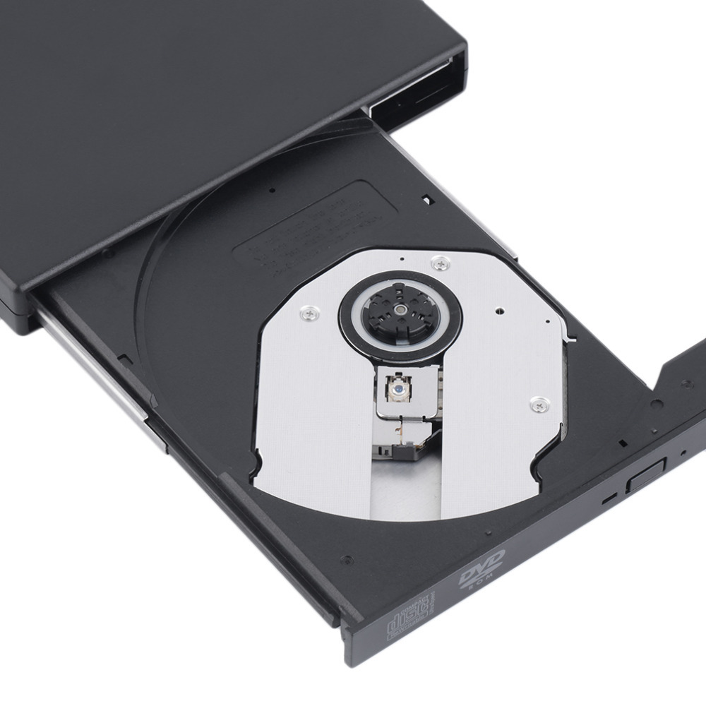 New USB 2.0 External DVD Combo CD-RW Burner Drive CD+-RW DVD ROM Black Wholesale Drop Shipping