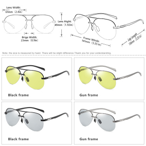 Image 5 - Brand Aviation Safety Driving Photochromic Polarized Sunglasses Men Day Night Vision Driving Sun Glasses oculos de sol masculino