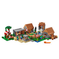 The Village Building Blocks With Steve Action Figures Compatible My World MinecraftINGlys Sets Toys Gifts For Children 21128