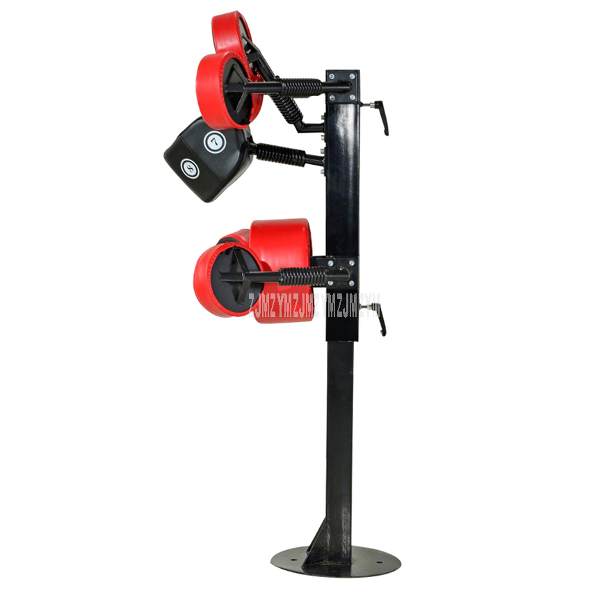 GBQ611 Vertical Standing Boxing Target Multi-Point Punching Bag Fitness Decompression Steel Pipe + Sponge Kick Boxing Equipment