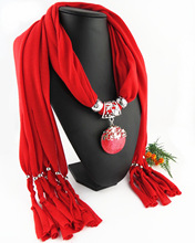 Wearing a jewelry scarf pendant