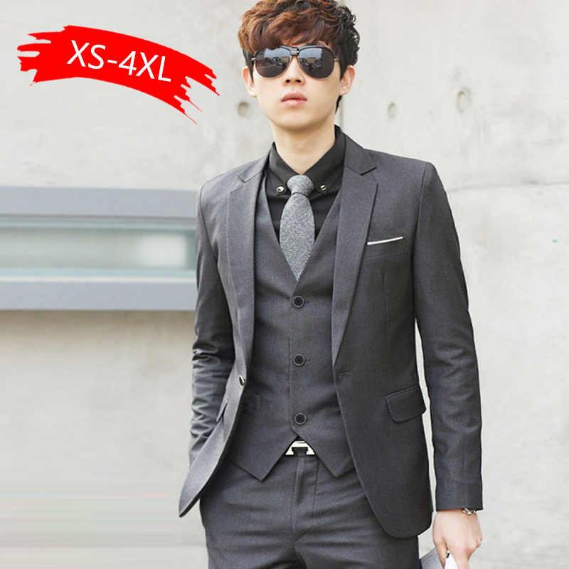 高級男性の結婚式2個スーツ男性ブレザースリムメンズ衣装ビジネスフォーマルパーティー青古典的な黒ギフトネクタイ