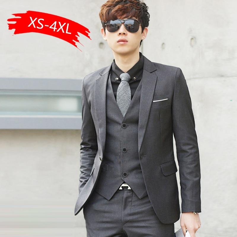 Luxury Men Wedding 2pcs Suit Male Blazers Slim Fit Suits For Men Costume Business Formal Party Blue Classic Black Gift Tie