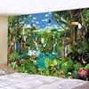 – 90 bis 300cm – *3 Tropen-Motive* Wandteppich / Tischdecke / Tuch, bunte Papageien im Dschungel Geschenk-Ideen | Tapisserie und Tischdecken 9