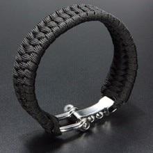 Открытый Кемпинг-параккорд BraceletsHomme ручной работы парашют веревка застежка выживания браслет плетеный ювелирные изделия для мужчин и женщин