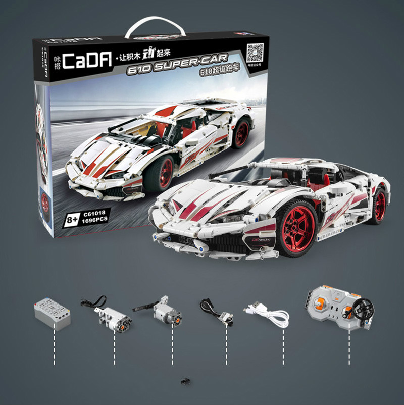 NIEUWE CADA LP610 RC Super Racing Auto Bricks Compatibel Technic Model Bouwstenen Afstandsbediening Auto Racing Speelgoed Voor Kinderen - 6
