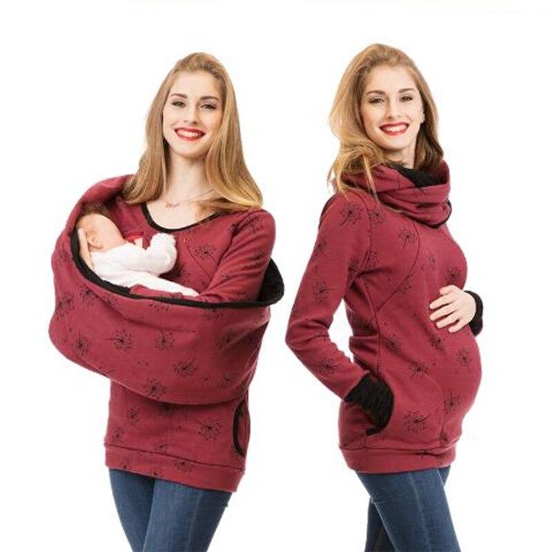 Multifonction maternité soins à capuche Top grossesse vêtements femmes enceintes allaitement chandail chemises Lactation t-shirt + écharpe
