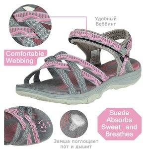 Image 5 - GRITION Strand Sandalen Frauen Sommer Outdoor Flache Sandalen Damen Offene spitze Schuhe 2020 Leichte Atmungsaktive Wanderschuhe Wandern Sandalen