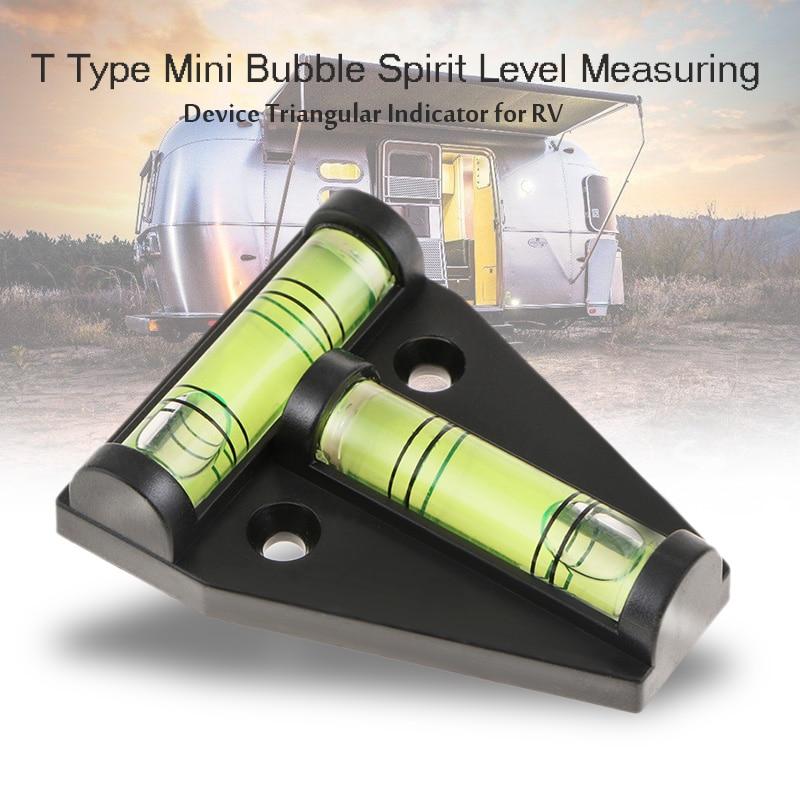 Car Mini Spirit Level T-shaped Bubble Spirit Level Foot Level For RV Camper Caravan Motorhome Truck Etc DIY Tool Car Accessories