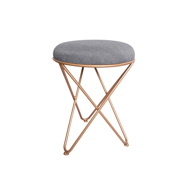H1 Living Room Sofa Footrest Stool Makeup Dressing Stool European Style Iron Art Shoes Bench Bedroom Coffee Table And Chair