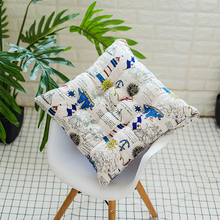 Mat Dining-Chair Soft-Seat Cushion Tatami Linen Square Heighten Home-Pillow Thicken Cotton