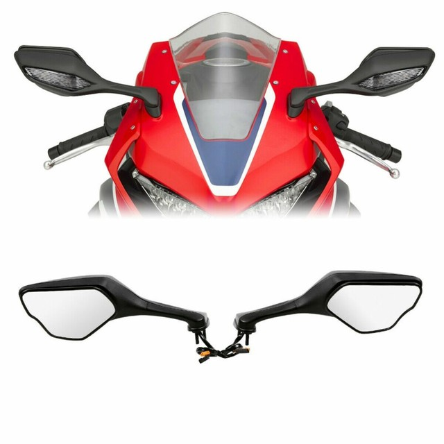 Motorcycle LED Turn Signal Rear View Mirrors side mirror For Honda CBR1000RR 2017-2019 2018 1