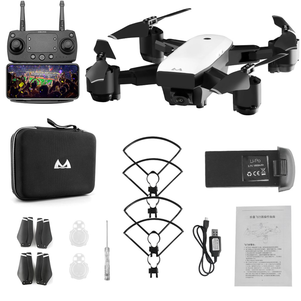 SMRC S20W 18min 150M 2 4G Gyro Mini Wifi Drone With 120 Degree Wide Angle 1080MP Camera Altitude Hold RC Quadcopter with RC box