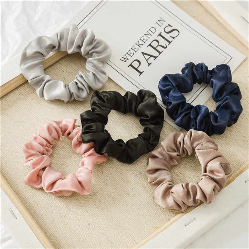 2019 New Women Hair Accesories Vintage Light Color Hair Tie Scrunchies Chiffon Ponytail Hair Holder Rope Ladies Hairband Free Sh