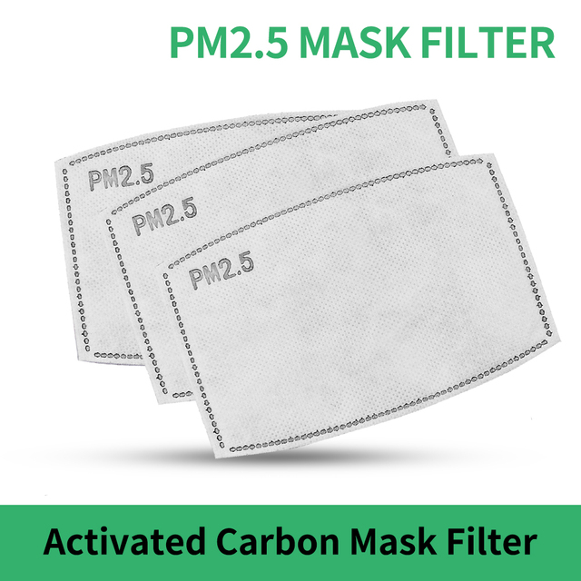 2/20/50pcs PM 2.5 Face Mask Filter Dust Anti Haze 5 Ply 95 Activated Carbon Filter Adults Mouth Masks Protection Respirator FPP2