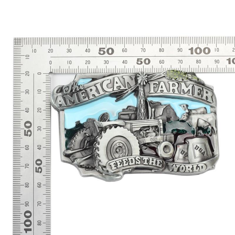 Tractor  Belt Buckle Handmade homemade belt accessories Farm theme waistband DIY Western cowboy Heavy metal rock punk k49