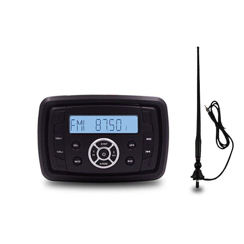 Guzare étanche Bluetooth Marine Radio médias stéréo récepteur bateau ATV UTV voiture moto lecteur MP3 + FM AM antenne