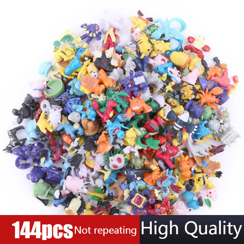 2.5cm-3cm POKEMON figures 144 different styles 24pieces/bag new dolls action figure toys for carta pokemon collectible dolls skipping rope