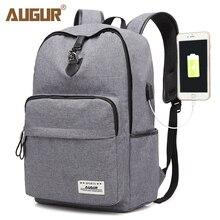 AUGUR Laptop Backpack Business Unisex Travel notebook Back pack Portable with USB Charging Port Backpacks Bookbag