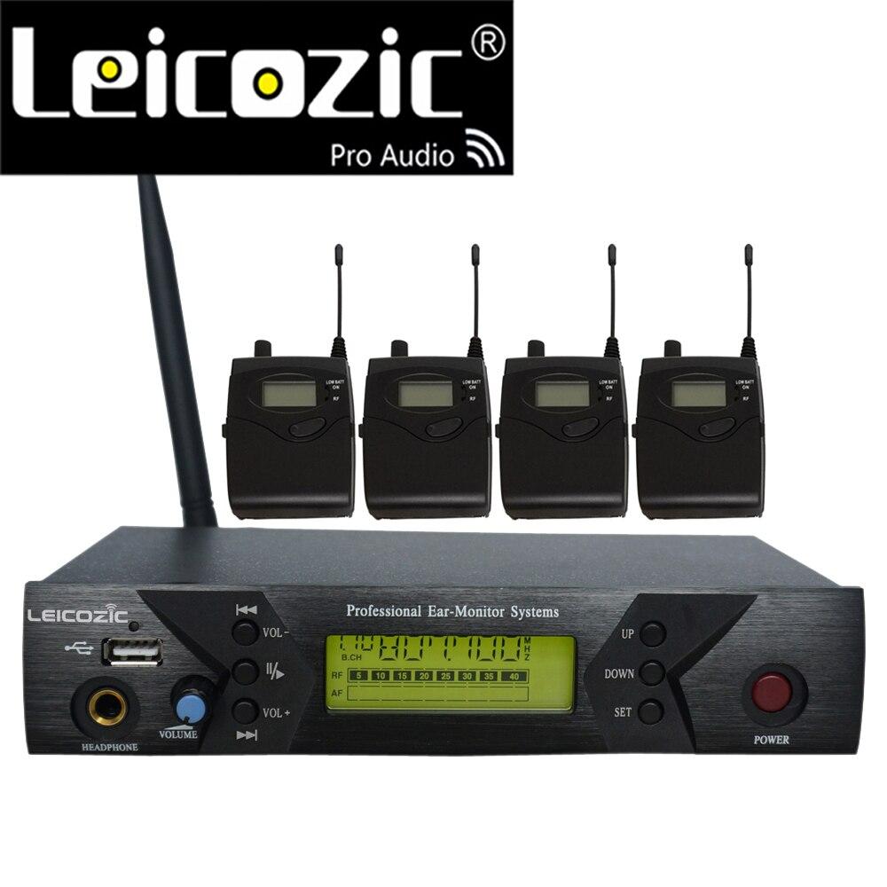 Leicozic BK-510 profesyonel IEM sistemleri 4 alıcı kablosuz kulak monitör sistemi için ses izleme kulak sahne ses