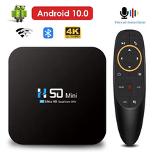 HONGTOP Android ТВ Box Android 10 4G 64GB 2,4G и 5,8G двухдиапазонный Wi-Fi Смарт ТВ коробка 4K 3D видео Bluetooth голосовой помощник Декодер каналов кабельного телевиден...