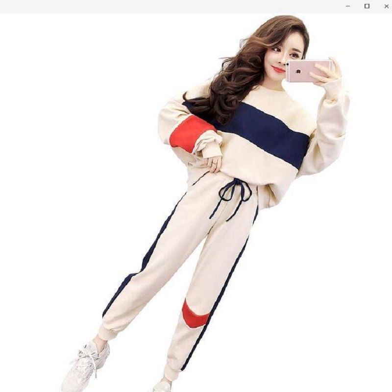 Tracksuit For Women Fashion Casual Women Clothes 2020 Autumn And Winter New Korean Version Of The Loose Set 2 Piece Set Women