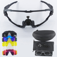 9270 Jaw Style 5 Lens Bike Glasses MTB Sports Sunglasses Pol