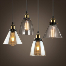 Glass Pendant Lights Lampshade Vintage Industrial Lamp E27 LED Kitchen Lighting Loft Hanging Lamp Home Cafe Bar Light Fixture big size rh maritime pendant polished pendant lamp vintage lighting fixture industry loft light illuminate chrome bronze color