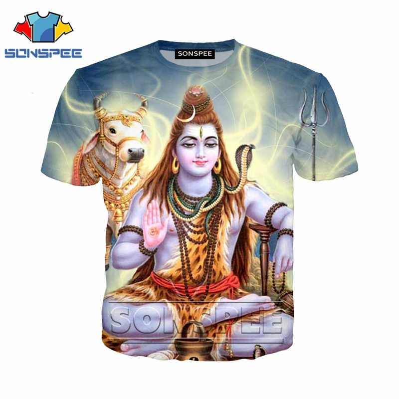 Anime 3d stampa casual divertente t shirt streetwear uomini Signore Shiva spiaggia di modo Delle Donne t-shirt Harajuku t-shirt homme tshirt a146