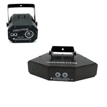 Профессиональный RGB лазерный светильник 6 глаза Laster светильник s DMX сценический светильник для диско танцевальные залы бары КТВ для ночного ...