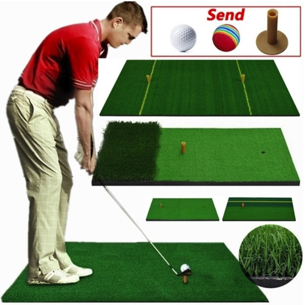 Durable Nylon Grass Foam Pad Backyard Golf Golf Practice Mat Golf Hitting Mat Rubber Tee Artificial Lawn Residential Outdoor
