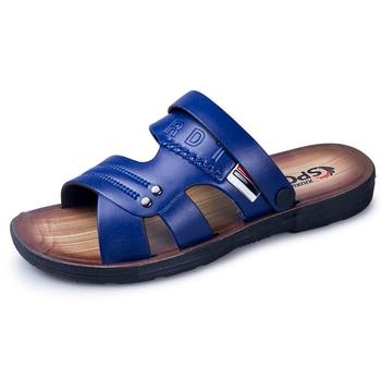 2020 New Sandals Men Leather Men Shoes Casual Comfortable Men Summer Shoes Sandals Beach Outdoor Water Wear-resistant Rubber